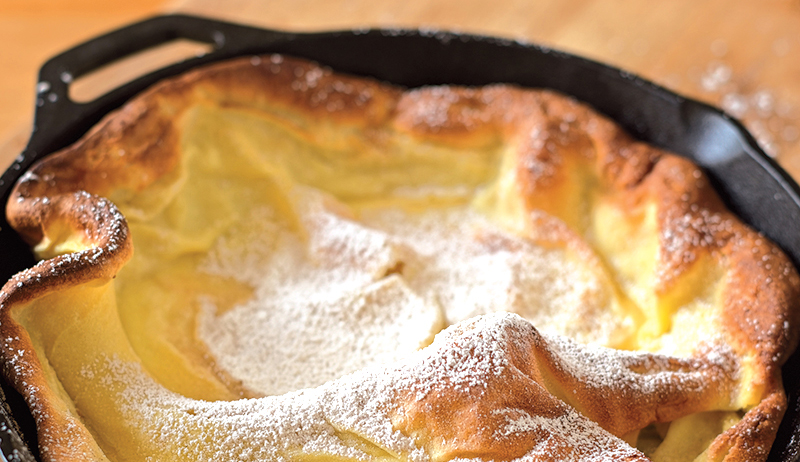 Cinnamon Sugar Puffed Pancake
