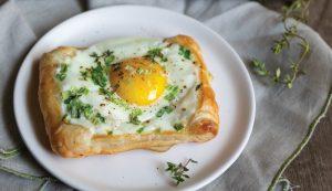 egg eggs herb brunch pastry