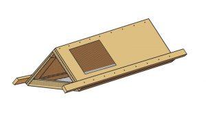 DIY mobile chicken tractor coop plans